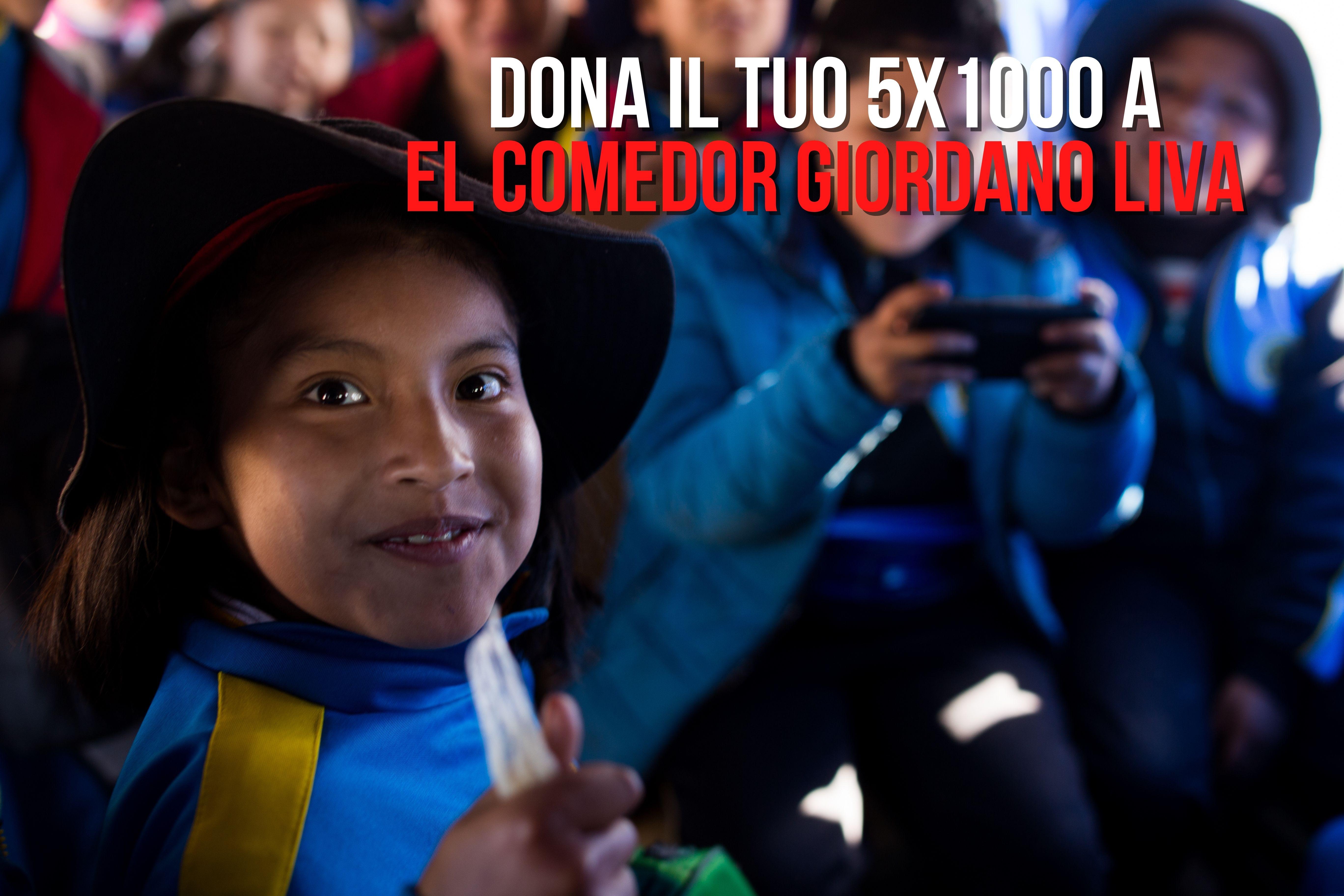 Dona il tuo 5×1000 a El Comedor Giordano Liva